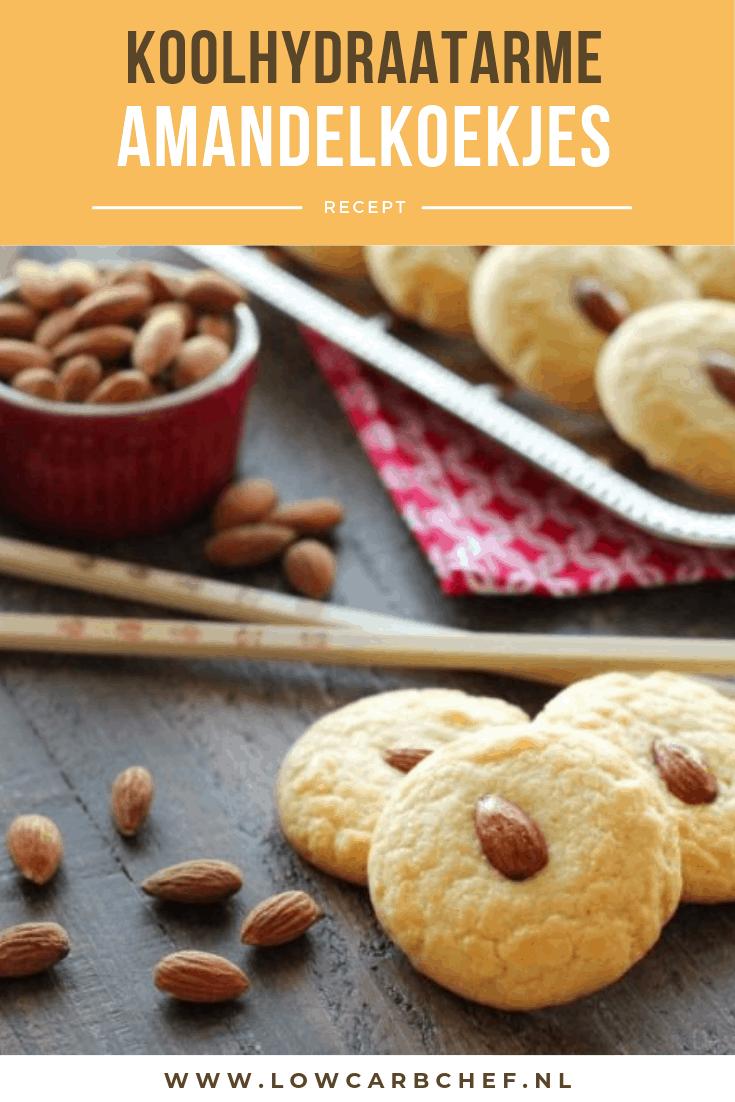 Deze koolhydraatarme amandelkoekjes zijn makkelijk om te maken en hebben een heerlijke zoete amandelsmaak. #koolhydraatarm #koekjes #amandelmeel #snacks