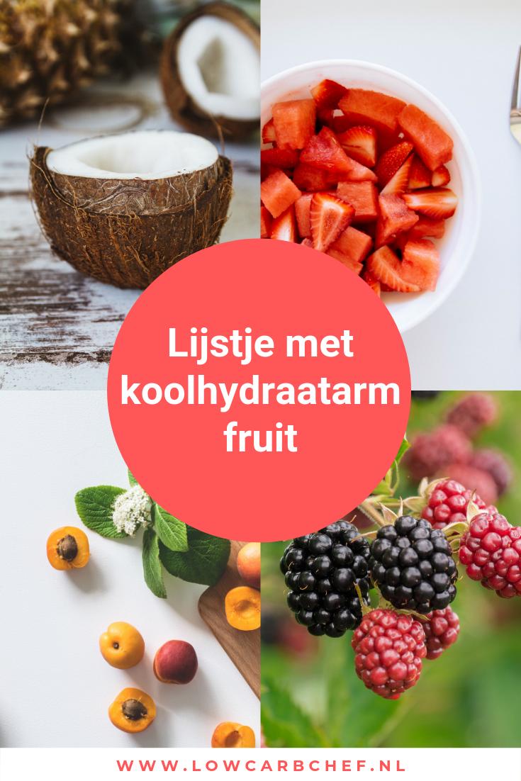 Fruit is een uitstekende bron van vitamines, mineralen, voedingsvezels en antioxidanten. Hier vind je een lijstje met alle koolhydraatarme fruitsoorten. #koolhydraatarm #fruit #snack #gezond #gezondeten