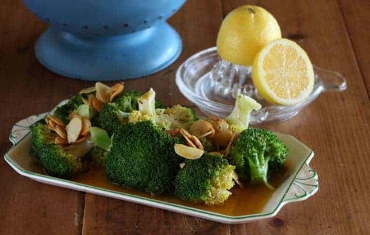 Broccoli in amandel-citroen boter