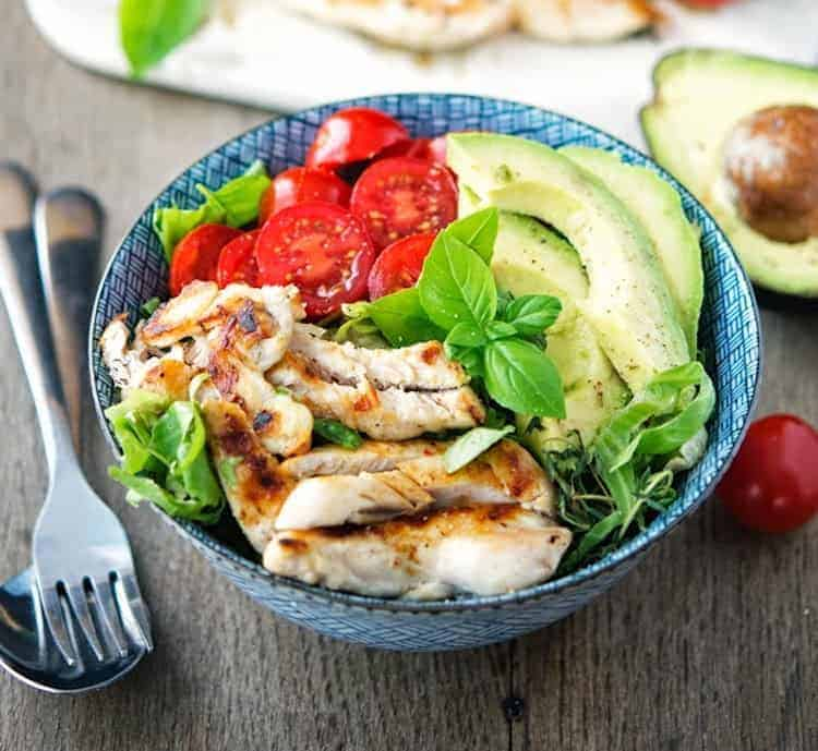 Kipshoarma salade