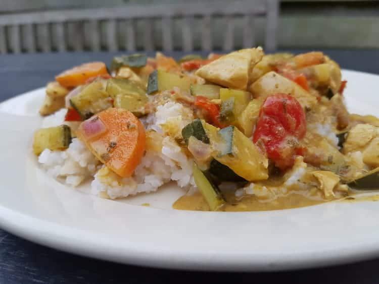Koolhydraatarme groene curry