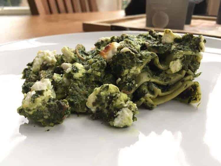Koolhydraatarme spinazie lasagne
