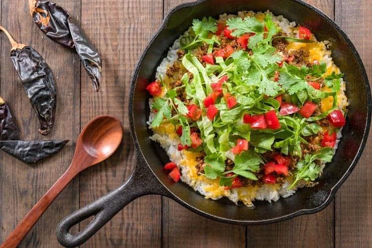 Koolhydraatarme taco rijst