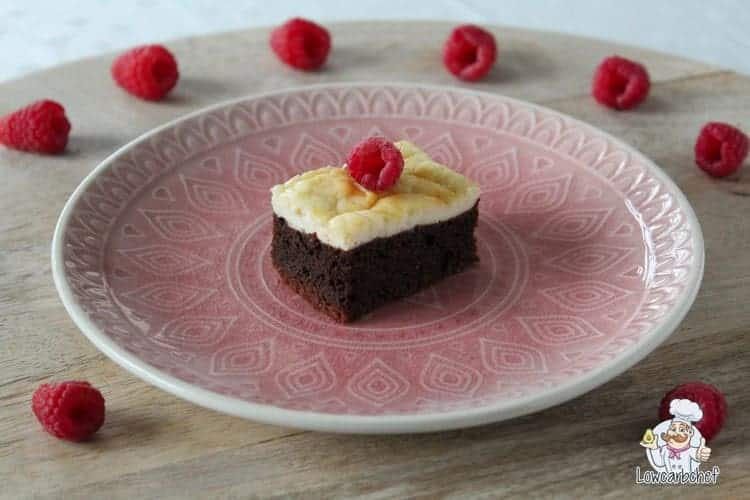 Koolhydraatarme cheesecake brownies