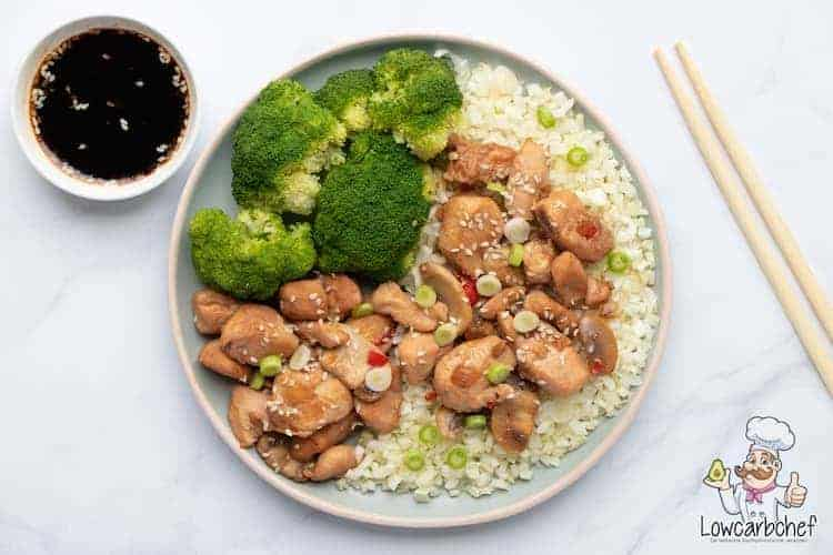 Kip teriyaki met broccoli en bloemkoolrijst