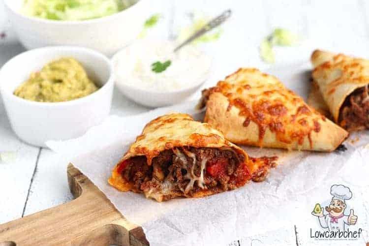 Burritos gevuld met pittig gehakt