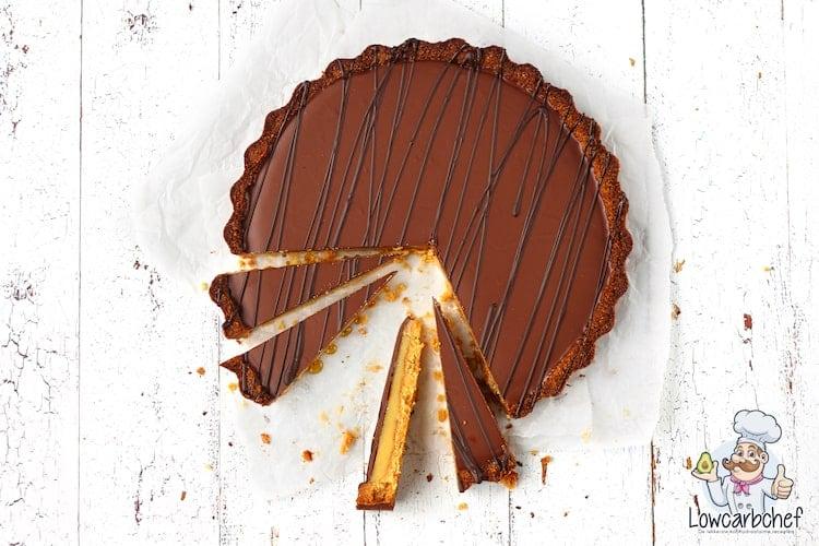 Twixtaart met chocolade en karamel